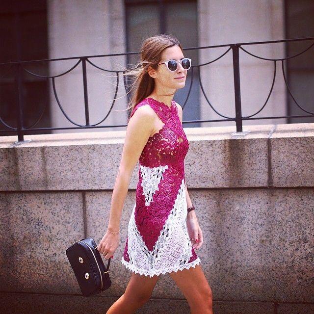 La it girl y blogger Amlul - Gala Gonzalez luciendo uno de nuestros vestidos SS15 en la Mercedes-Benz Fashion Week New York. Un look 10.  It girl and blogger Amlul - Gala Gonzalez wearing one of our #SS15 dresses at Mercedes-Benz Fashion Week New York. She looks stunning, doesn't she?