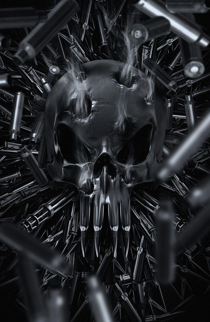 """The Punisher - One Man Army"" by Kode LGX [=> https://www.artstation.com/artwork/nbLYK ]"