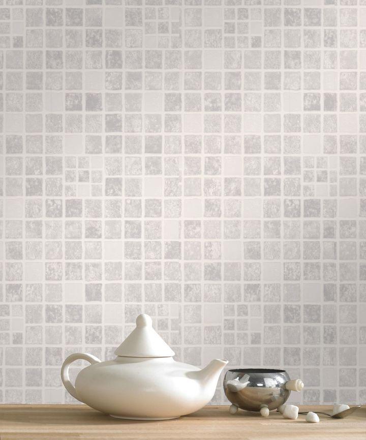 Graham & Brown Mid grey earthen wallpaper