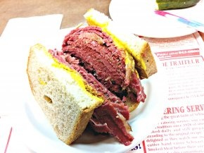 The smoked meat sandwich at Schwartz's. Sorta a must.