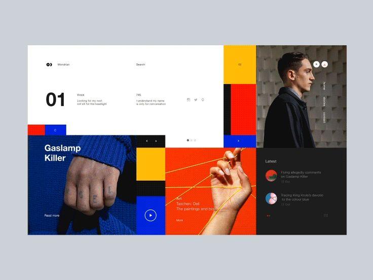 Mal was anderes: Mondrianismus im Webdesign – Gabrielle Schenk