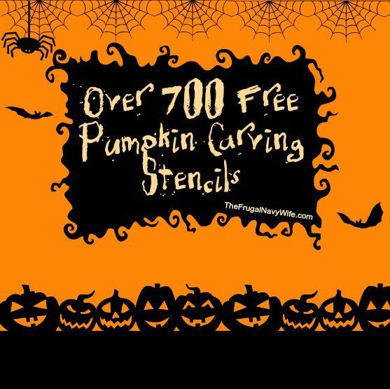 Over 700 FREE Pumpkin Carving Stencils #free #pumpkin #halloween