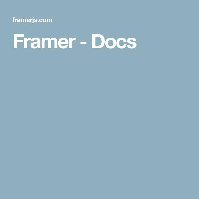 Framer - Docs