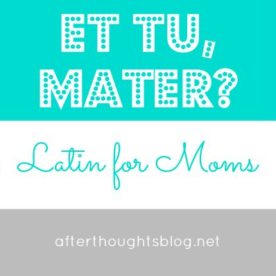 Latin for Moms: Understanding the Five Basic Cases | Afterthoughts: A Thoughtful Blog for the Classical, Charlotte Mason Mama