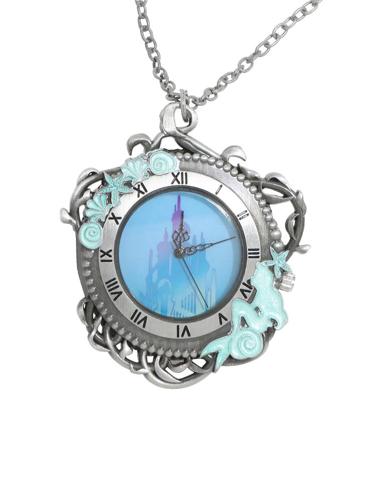Did you SEA this? // Disney The Little Mermaid Tritons Palace Pocket Watch Necklace