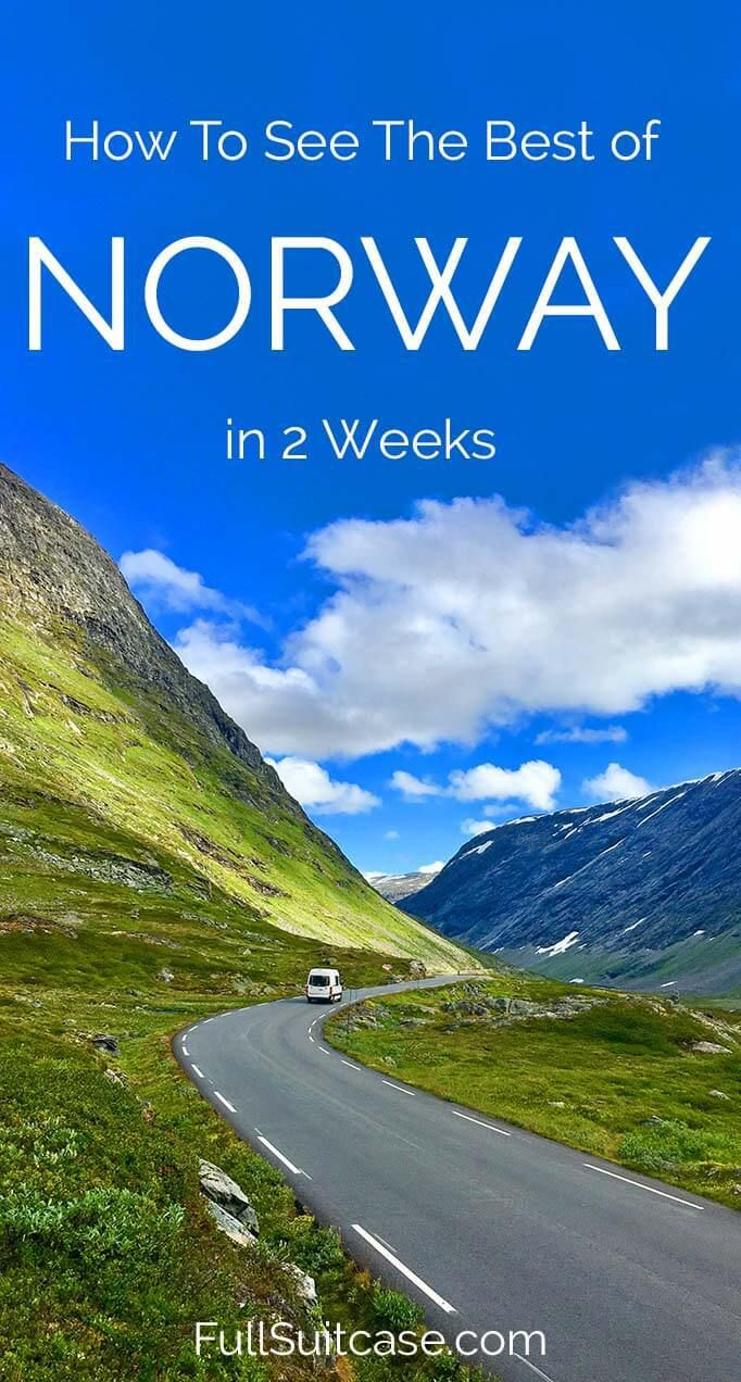 See the best of Norway with this 2-week road trip itinerary along the most beautiful fjords and the Atlantic coast #Norway #itinerary