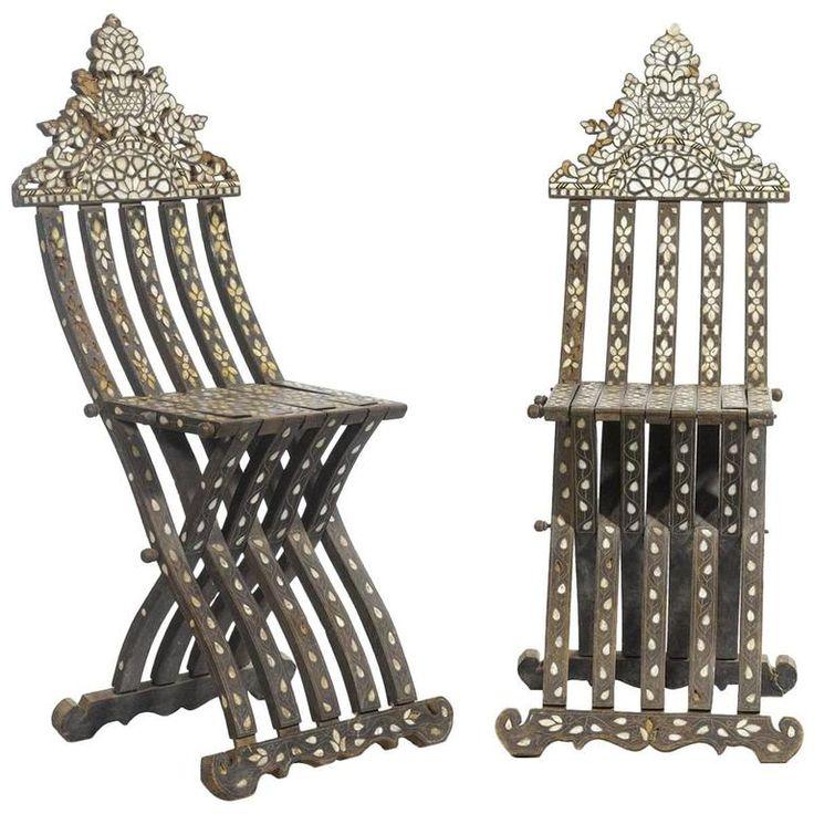 Pair Of Orientalist Folding Chairs