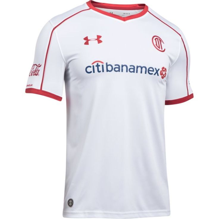 Under Armour Men's Deportivo Toluca FC 17/18 Away Stadium Jersey, Size: Medium, Multi
