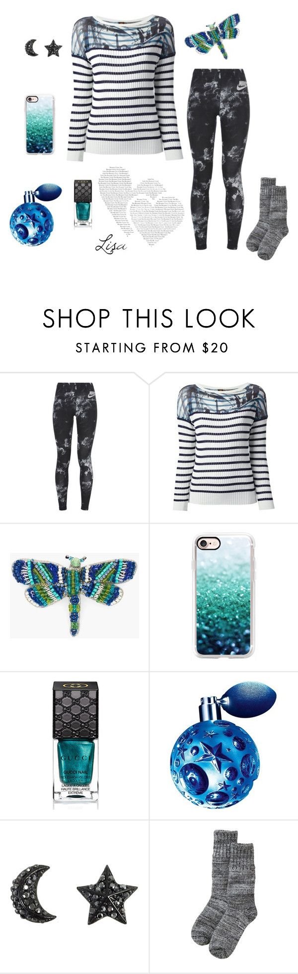 """""""Up hill Climb"""" by coolmommy44 ❤ liked on Polyvore featuring NIKE, Jean Paul Gaultier Soleil, Chico's, Casetify, Gucci and Thierry Mugler"""