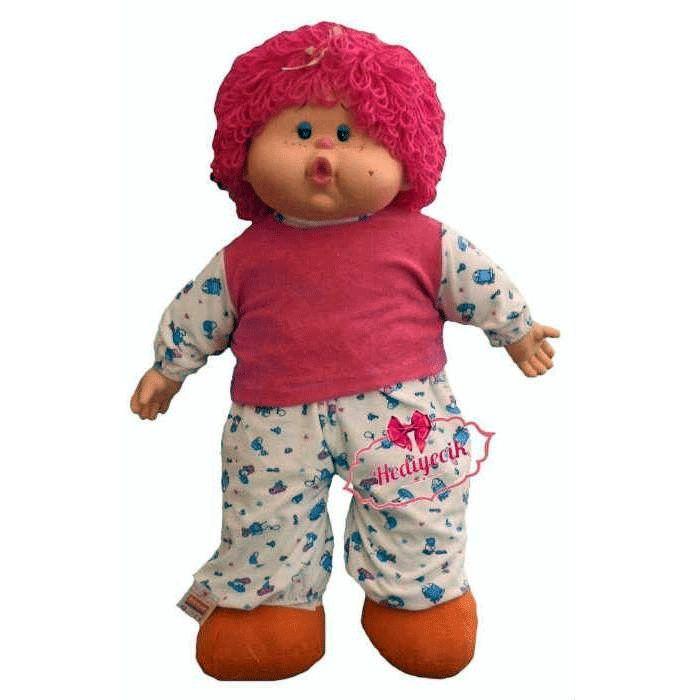 Oyuncak Lahana Bebek 75 Cm Renkli bonus Saçlı