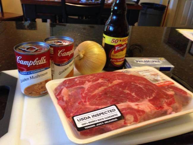 Crock-pot Beef Stroganoff