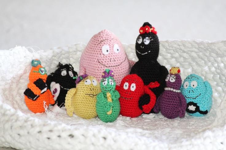 la mayoría de ganchillo: Tejer la familia Barbapapa, patrón de crochet gratis