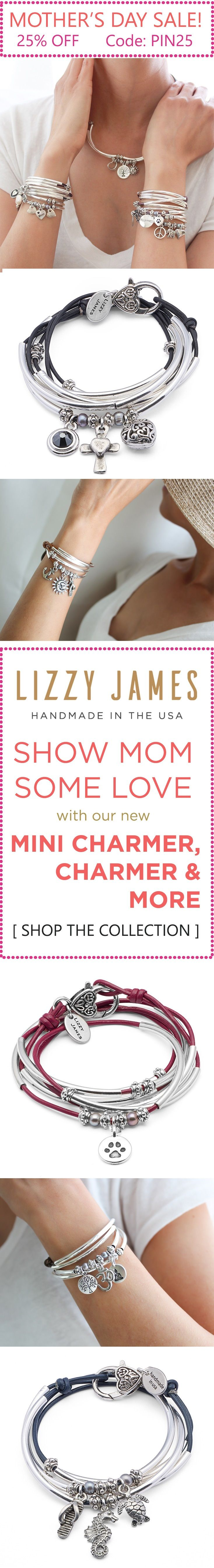 Lizzy James NEW Arrivals plus online exclusives just in time for Mother's Day! Get 25% OFF with CODE: PIN25 plus Free Shipping during our Mother's Day Sale. With great Mothers Day gift ideas featuring NEW charm bracelet wrap bracelets - Mini Charmer, Char