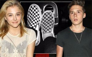 Brooklyn Beckham shares memories of his matching shoes with Chloe Moretz with caption 'Missing this one'