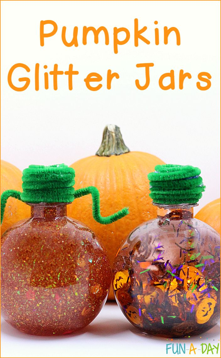 Fall Halloween Craft Ideas Part - 17: Two Ideas For Making A Pumpkin Glitter Jar With Kids. Pumpkin CraftsFall  CraftsHalloween ...