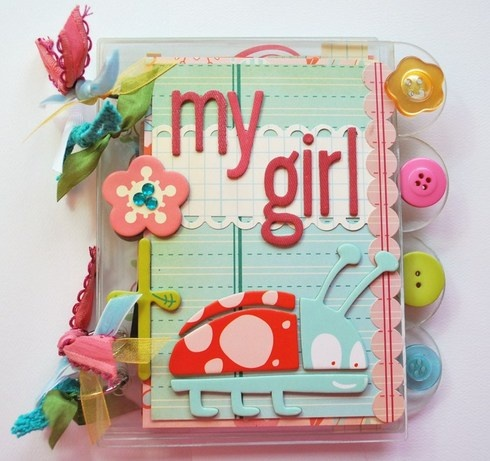 """""""My Girl"""" mini album. Includes measurements, instructions, and photos of each page."""