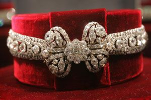 """Lost Secret of Catherine the Great...a """"dog collar"""" styled diamond necklace that once belonged to the monarch."""