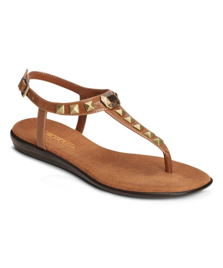 Look what I found on #zulily! Aerosoles Dark Tan Chlose Together Sandal by Aerosoles #zulilyfinds
