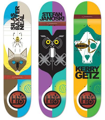 Charley Harper for Habitat Skateboards