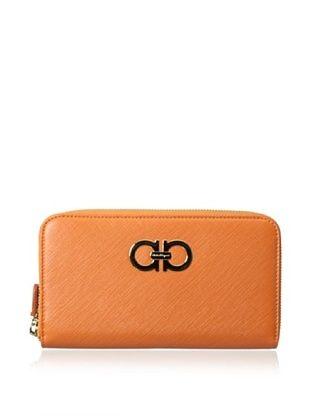 22% OFF Salvatore Ferragamo Women's Zip-Around Wallet, Orange
