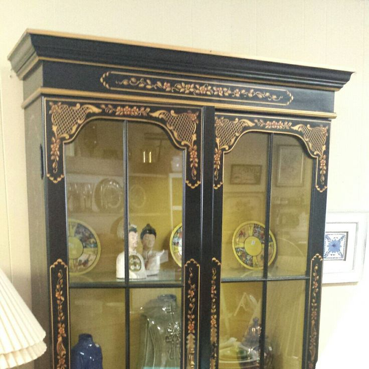 Vintage China Cabinet Chinoiserie Hollywood Regency For Sale In Our Etsy  Shop. Nationwide Shipping Door