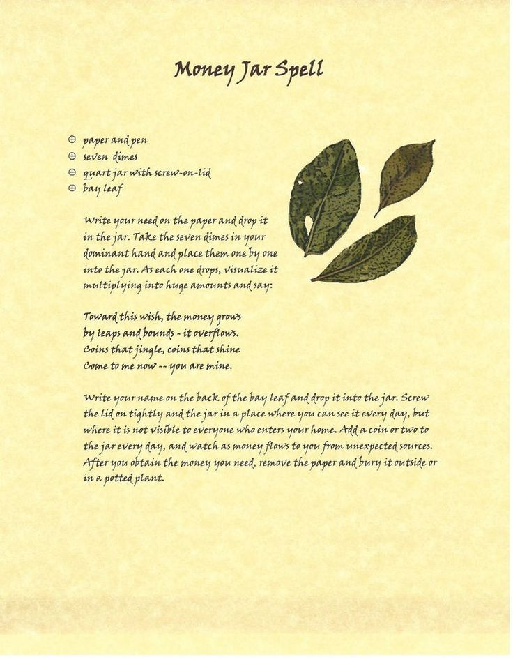 Book of Shadows Spell Pages ** Money Jar Spell ** Wicca Witchcraft BOS | Everything Else, Metaphysical, Wicca | eBay!