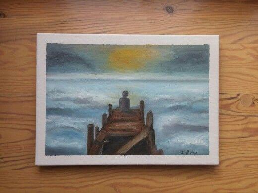 Sea. By Ieva Krivma. Oil. 25x35 cm Canvas