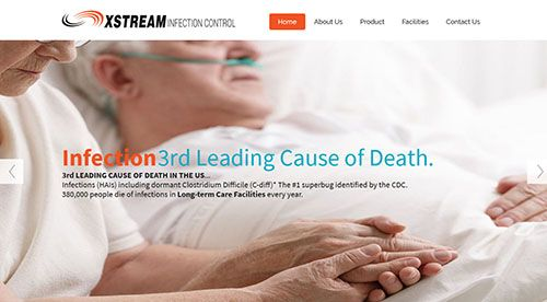 New Responsive Website for product that could help control pathogens on Healthcare facilities