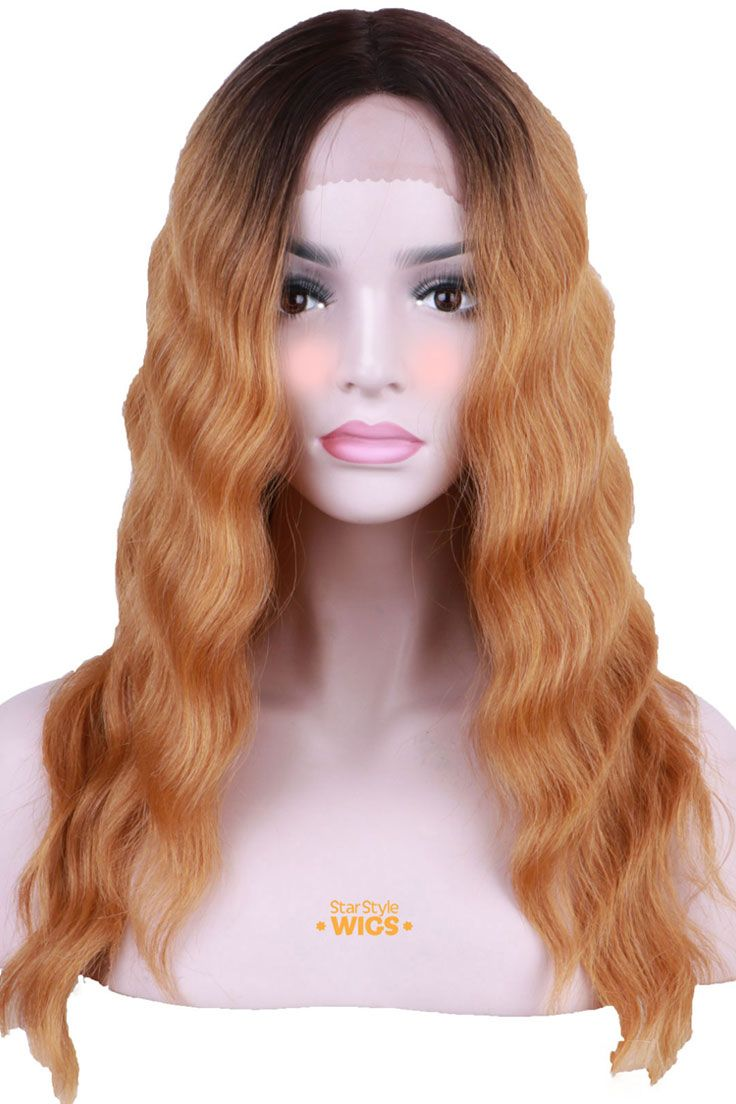 Brown Rooted Golden Blonde Lace Front Wig by Star Style Wigs. Exquisite new  wig featuring wavy layers and centre part. The hair lengt… 4aaa1b1d33a3
