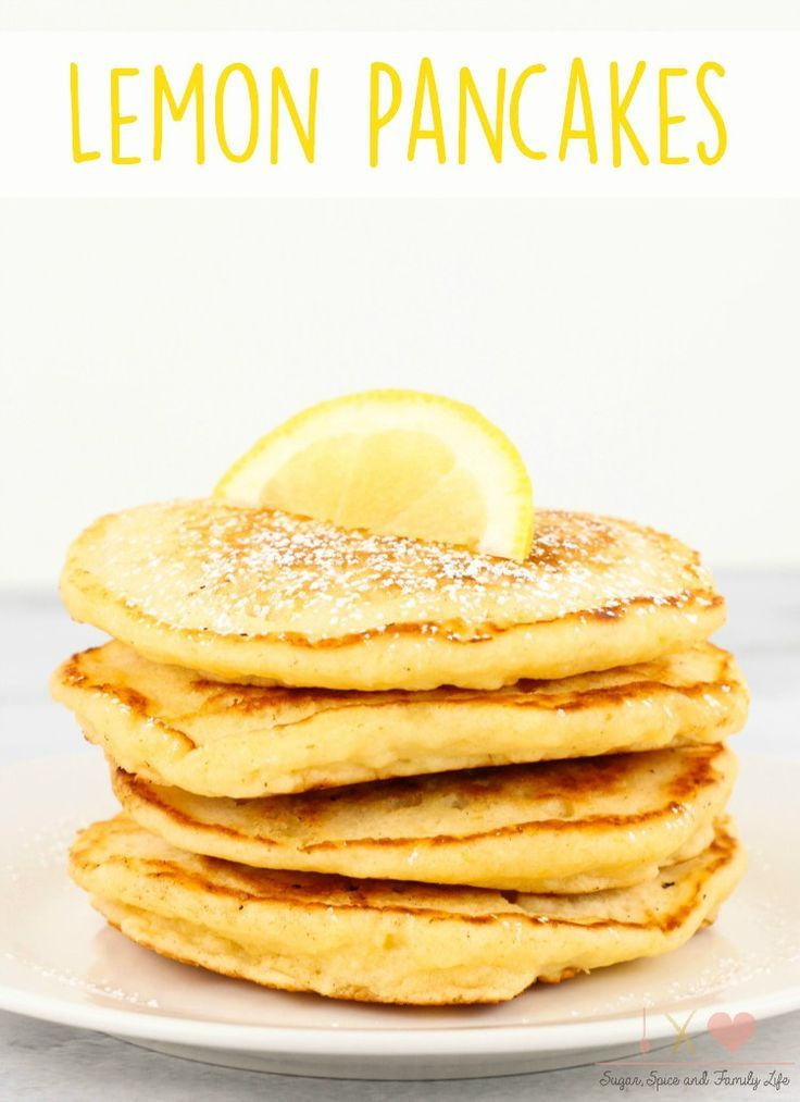 Lemon Pancakes are a delicious and refreshing Spring breakfast. - Lemon Pancakes Recipe on Sugar, Spice and Family Life