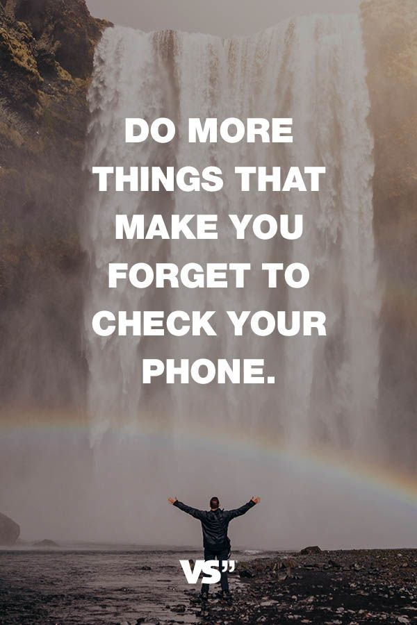 Visual Statements®️️️️️️️️️ Sprüche/ Zitate/ Quotes/ Motivation/ Do more things that make you forget to check your phone.