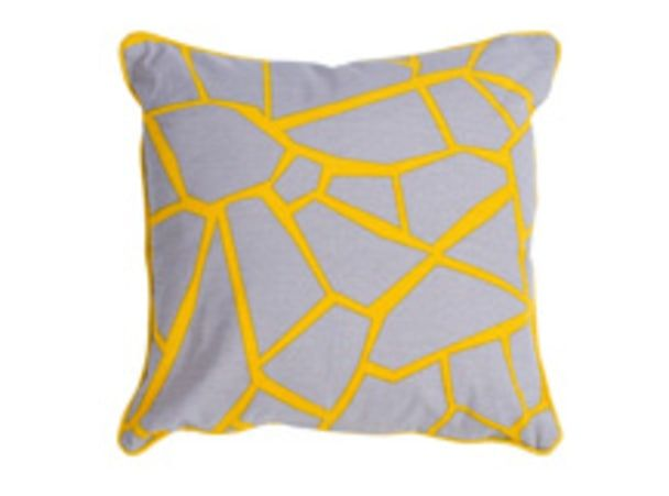 Verdon Cushion 45 x 45cm, Grey and Yellow Mix