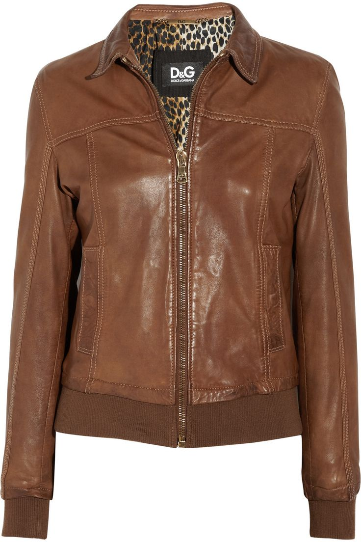 D&G Leather Bomber Jacket from Net-A-Porter - $1495.00