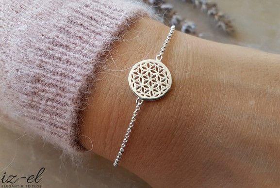 Silberketten - Armkette Lebensblume - ein Designerstück von iz-el bei DaWanda