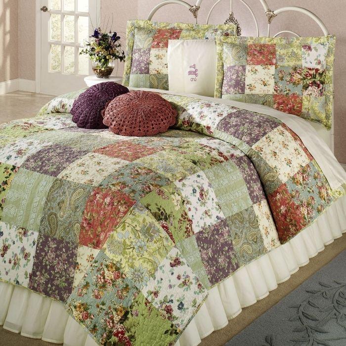 Одеяло в стиле пэчворк своими руками фото