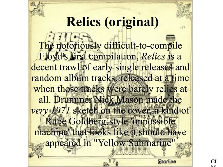 Pink Floyd - Relics (Original)  Created by CIM