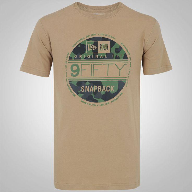 Camiseta New Era Camuflada Militar Selo - Masculina