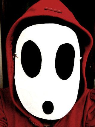 """Shy Guy The """"Super Mario"""" character just requires a simple 2D mask and red hoodie to make him come to life."""