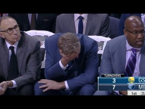 Steve Kerr Gets irate at Steph Curry's Wild Behind the Back Pass | Feb 6, 2017 | 2016-17 NBA Season http://colossill.com/steve-kerr-gets-irate-at-steph-currys-wild-behind-the-back-pass-feb-6-2017-2016-17-nba-season/