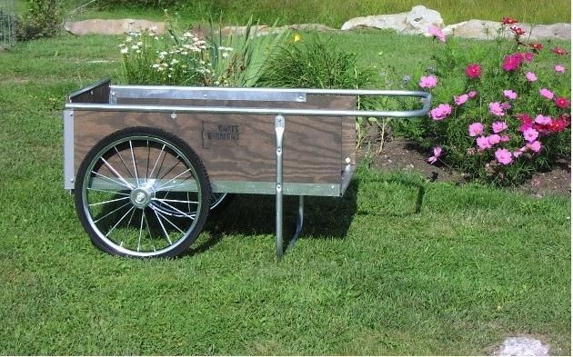 Lehman's - Practical Garden Carts (This will probably be easier to maneuver than a traditional wheelbarrow, but get both just in case)