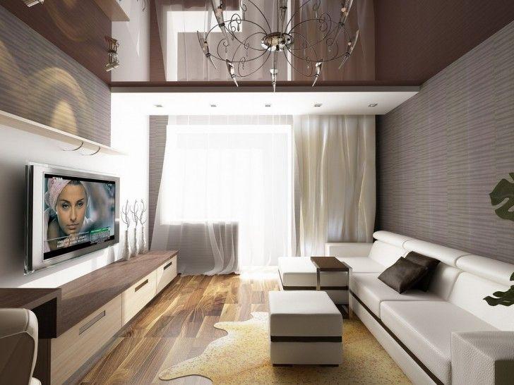 Contemporary Interior Design Studio Apartment Bright Living Room With  Classic Chandelier