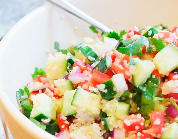 Ensalada de pepino y quinoa