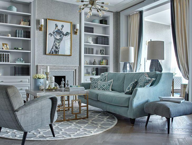Оттенки бирюзы в интерьере квартиры в Орле | Пуфик - блог о дизайне интерьера