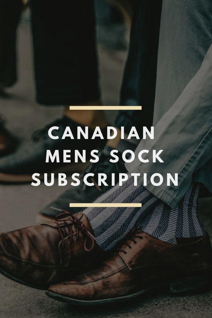 Canadian Mens sock subscription