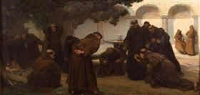 Monks Playing Bowls - Charles Hermans