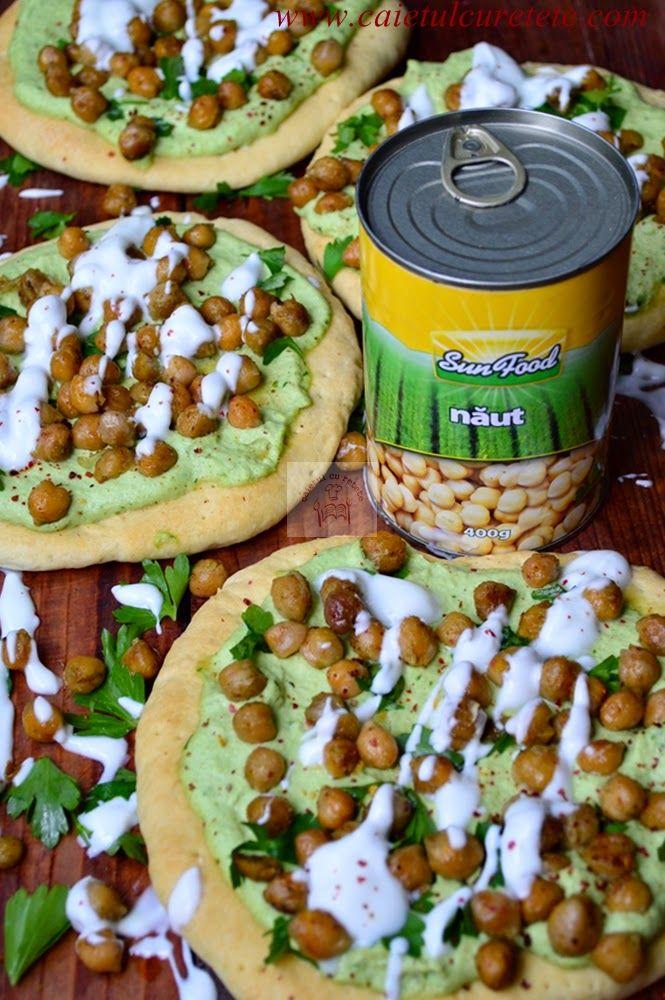 Pizza cu naut si avocado | CAIETUL CU RETETE