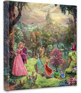 Sleeping Beauty - Gallery Wrapped - Thomas Kinkade - World-Wide-Art.com - $79.00 #Disney #Kinkade