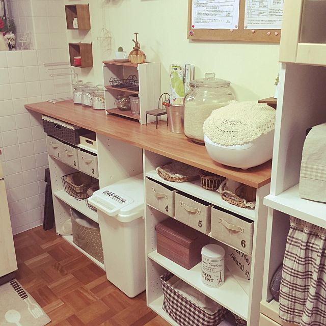ニトリの最強収納アイテム カラーボックス の使い方 狭いキッチン