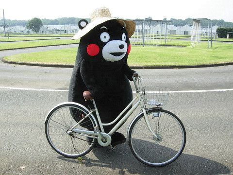 Kumamon, biking.
