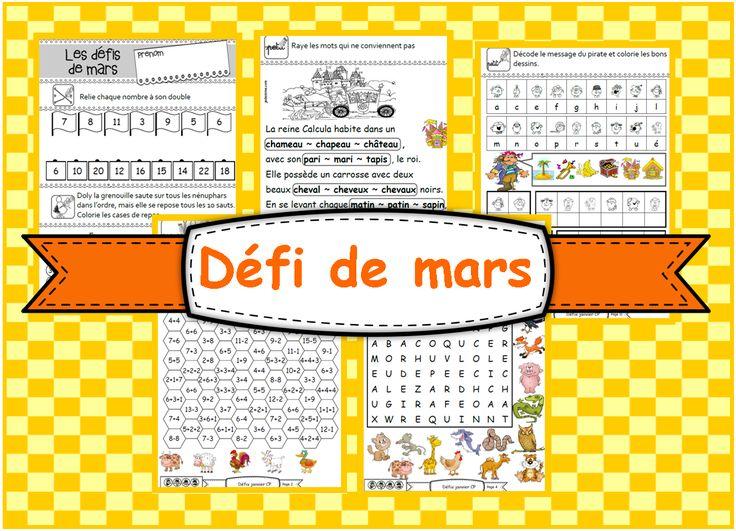 IPOTÂME ....TÂME: GS et CP : Défi de Mars